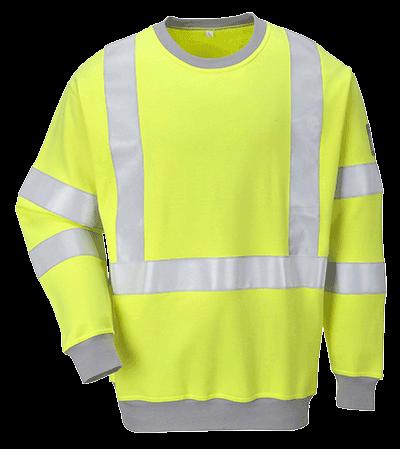 Bluza trudnopalna antystatyczna i ostrzegawcza