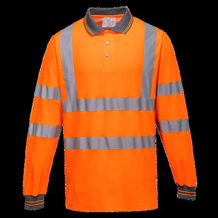 Koszulka polo ostrzegawcza Cotton Comfort z długimi rękawami