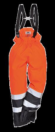 Ostrzegawcze spodnie ochronne BizFlame Rain