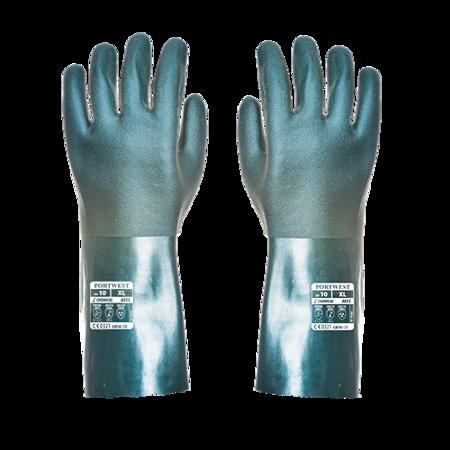 Rękawica pokryta podwójną warstwą PVC 35cm